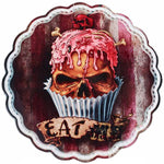 Alchemy Gothic Skull Cupcake Plate | Angel Clothing