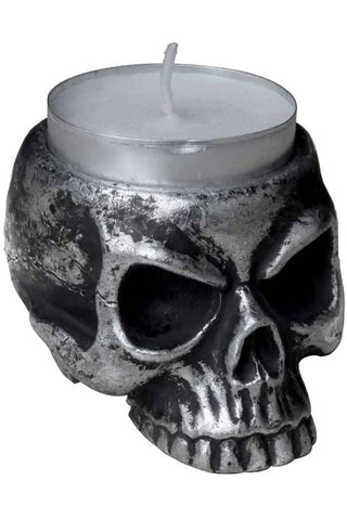Alchemy Gothic Skull Tea Light Holder V74 | Angel Clothing