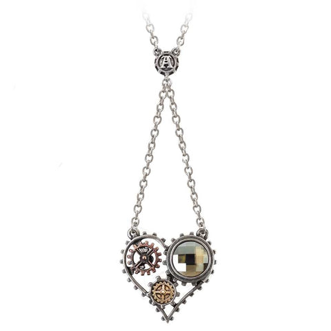 Alchemy Gothic Steampunk Coeur Du Morteur Necklace P708 - Angel Clothing
