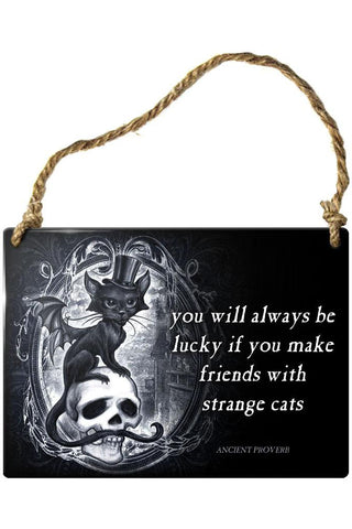 Alchemy Strange Cats Meowstophelex Plaque | Angel Clothing