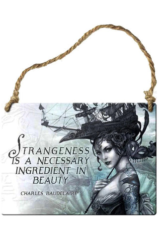 Alchemy Strangeness Necessary Ingredient Plaque | Angel Clothing