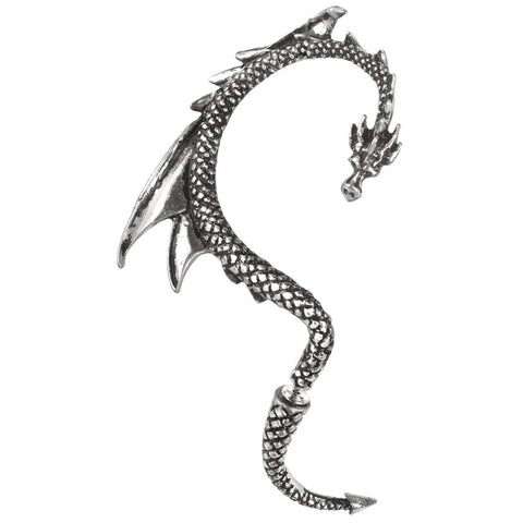 Alchemy Gothic The Dragons Lure Stud Earring E274 - Angel Clothing