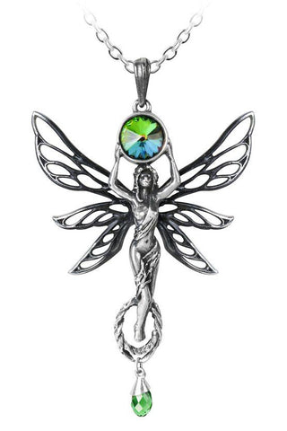 Alchemy The Green Goddess Absinthe Fairy Pendant | Angel Clothing