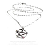 Alchemy Gothic Wiccan Elemental Pentacle Necklace P786 | Angel Clothing