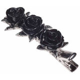 Alchemy Wild Black Rose Hair Clip | Angel Clothing