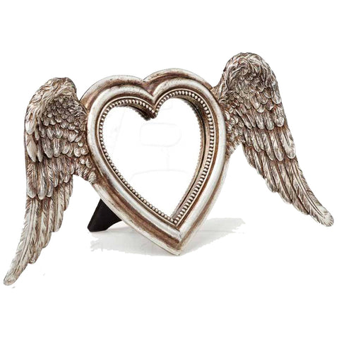 Alchemy Gothic Winged Heart Mirror SA6 | Angel Clothing