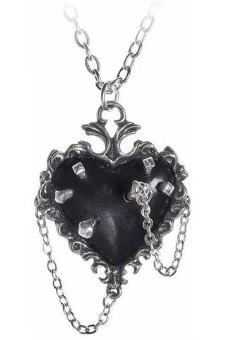 Alchemy Gothic Witch Heart Pendant P855 | Angel Clothing