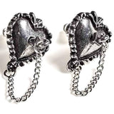 Alchemy Witches Heart Studs | Angel Clothing