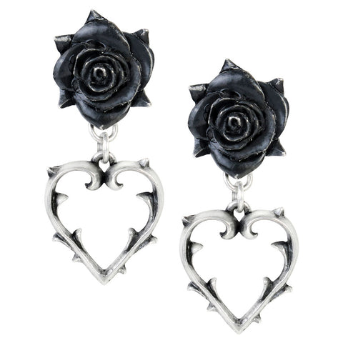 Alchemy Gothic Wounded Love Earrings E365 | Angel Clothing