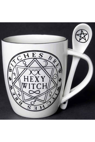 Alchemy Hexy Witch Mug and Spoon Set | Angel Clothing