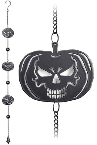 Alchemy Pumpkin Skull Wind Chime | Angel Clothing