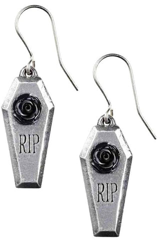 Alchemy RIP Rose Earrings | Angel Clothing