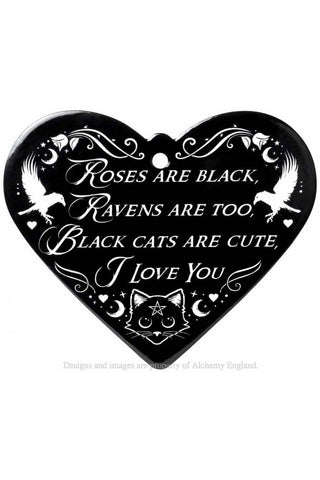 Alchemy Roses Are Black Poetic Heart Trivet | Angel Clothing