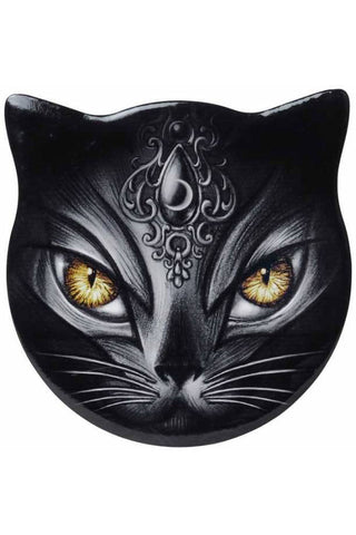 Alchemy Gothic Sacred Cat Coaster | Angel Clothing