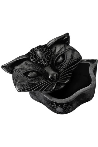 Alchemy Black Sacred Cat Trinket Box | Angel Clothing