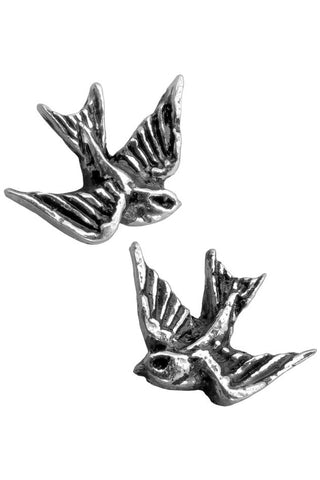 Alchemy Swallow Stud Earrings Pair | Angel Clothing