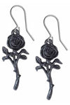 Alchemy The Romance of the Black Rose Earrings E421 | Angel Clothing