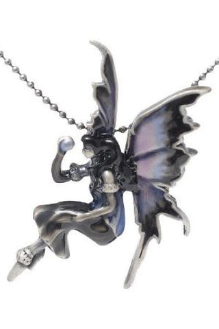 Amy Brown Moonstone Fairy Enamel Pendant | Angel Clothing