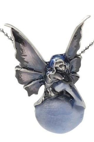 Amy Brown Sweet Violet Fairy Enamel Pendant | Angel Clothing