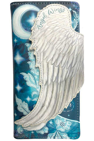 PRE-ORDER Angel Wings Embossed Purse | Angel Clothing