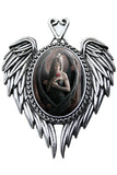 Anne Stokes Angel Rose Cameo Necklace | Angel Clothing