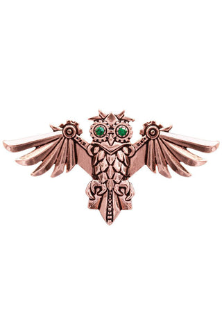 Steampunk Engineerium Aviamore Owl Brooch | Angel Clothing