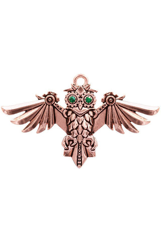 Steampunk Engineerium Aviamore Owl Pendant | Angel Clothing