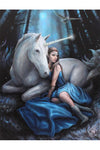 Anne Stokes Blue Moon Fantasy Unicorn Picture | Angel Clothing