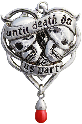 Anne Stokes Spondeo Til Death Us Do Part Pendant | Angel Clothing