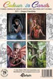 Anne Stokes Colour In Cards, Dragon Friendship Set, Fantasy Art Colouring Greetings Cards | Angel Clothing