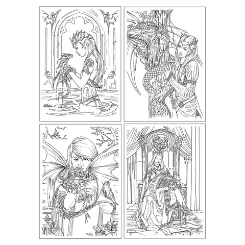 Dragon friendship art colouring greetings cards angel clothing anne stokes colour in cards dragon friendship set fantasy art colouring greetings cards m4hsunfo