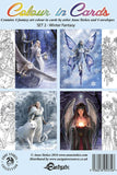 Anne Stokes Colour In Cards, Winter Fantasy Set, Fantasy Art Colouring Greetings Cards | Angel Clothing