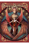 Anne Stokes Copperwing Dragon Birthday Card | Angel Clothing