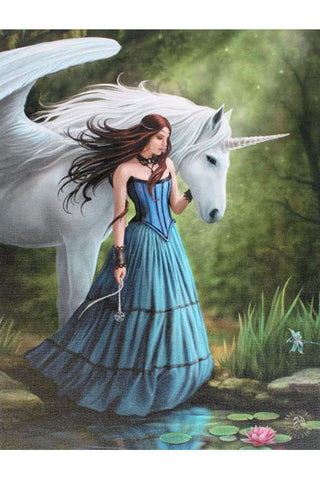Anne Stokes Enchanted Pool Unicorn Picture | Angel Clothing
