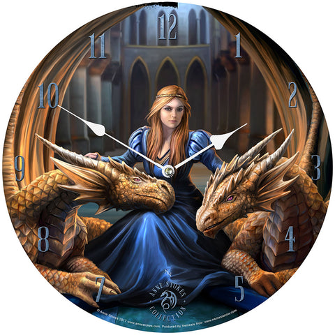 Anne Stokes Fierce Loyalty Clock | Angel Clothing