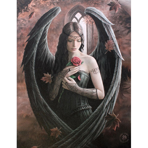 Anne Stokes - Gothic Angel Rose Picture 19cm x 25cm - Angel Clothing