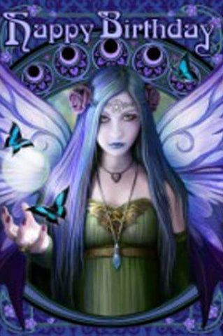 Anne Stokes Gothic Birthday Card, Mystic Aura Fairy Greetings Card | Angel Clothing