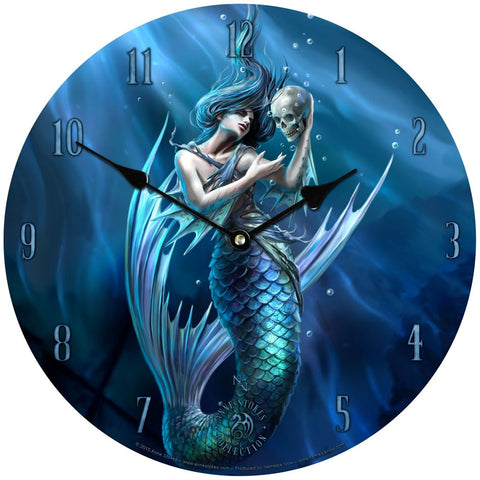 Anne Stokes Gothic Clock, Sailors Ruin Wall Clock with Mermaid | Angel Clothing