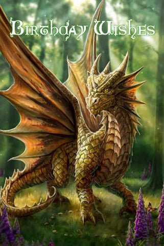 Anne Stokes Friendly Dragon Birthday Card | Angel Clothing