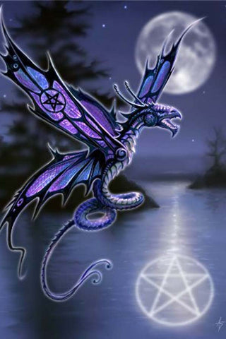 Anne Stokes Gothic Dragon Greetings Card, Dragonfly | Angel Clothing
