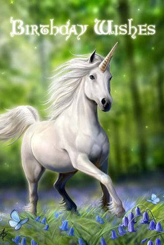 Anne Stokes Unicorn Birthday Card | Angel Clothing
