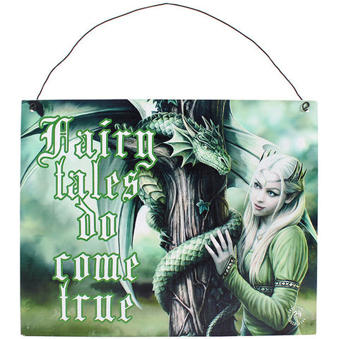 Anne Stokes Kindred Spirit Metal Sign 19cm x 24cm | Angel Clothing