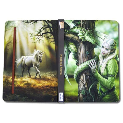 Anne Stokes Kindred Spirits Dragon Unicorn Notebook Journal, A5 Gothic Notebook | Angel Clothing
