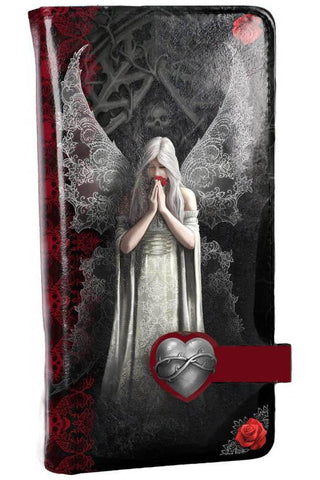 Only Love Remains Embossed Purse by Anne Stokes 18.5cm | Angel Clothing