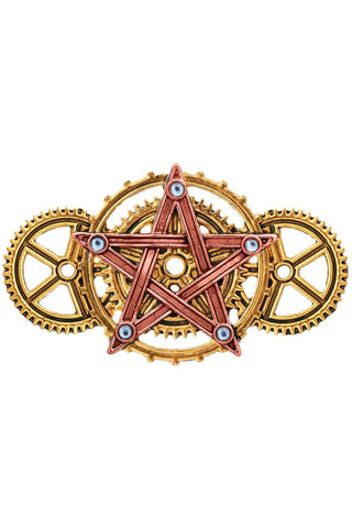 Penta Meridia Brooch. Steampunk Engineerium by Anne Stokes EN9 | Angel Clothing