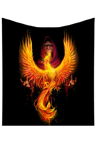 Anne Stokes Phoenix Rising Throw | Angel Clothing
