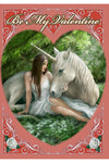 Anne Stokes Pure Heart, Be My Valentine, Unicorn Valentines Card | Angel Clothing