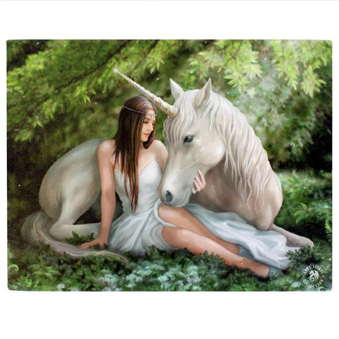 Anne Stokes - Pure Heart Unicorn Picture 19cm x 25cm - Angel Clothing