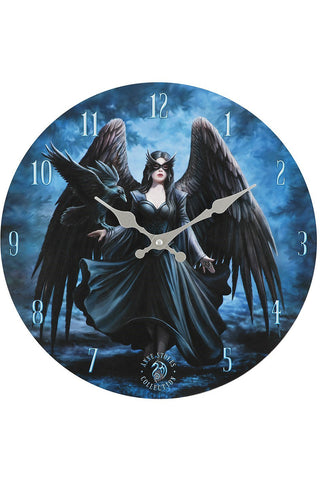 Anne Stokes Raven Wall Clock | Angel Clothing