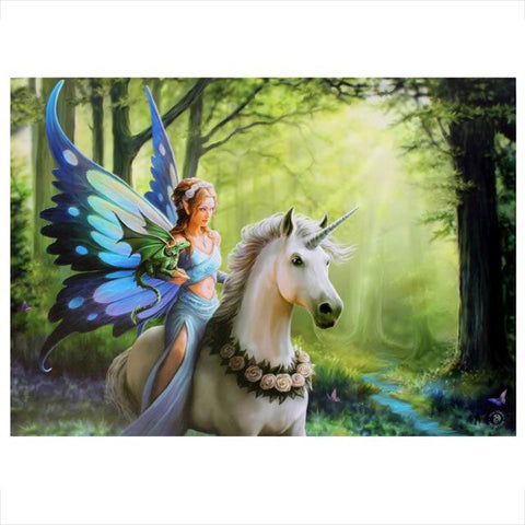 Anne Stokes - Realm of Enchantment Unicorn Picture 50cm x 70cm | Angel Clothing
